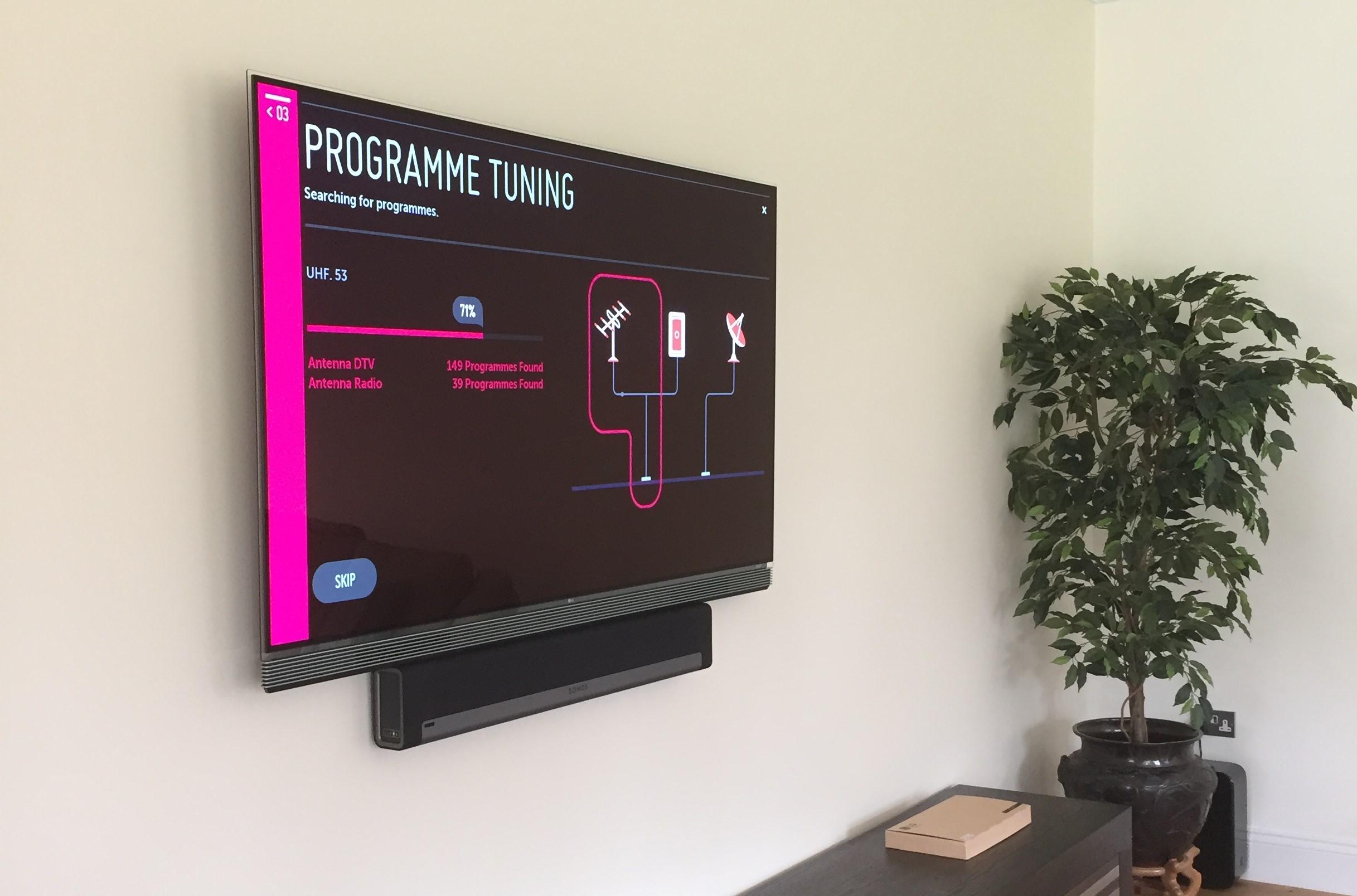 TV Install With SONOS Playbar